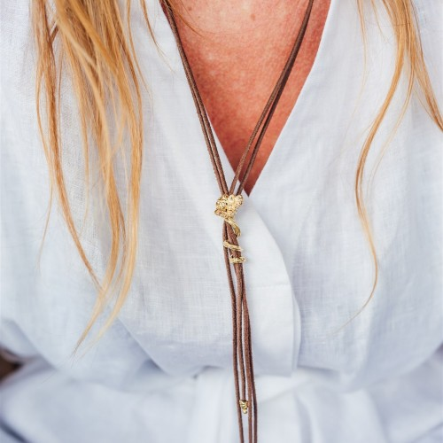 Riding necklace   Gold