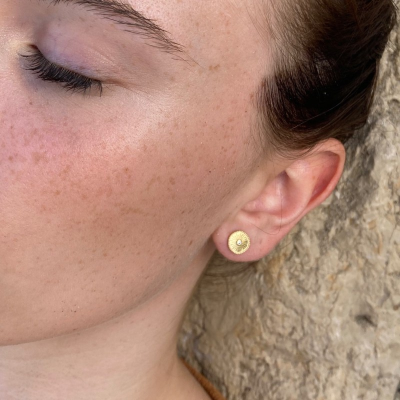 Oh Sole Mio earrings | Gold