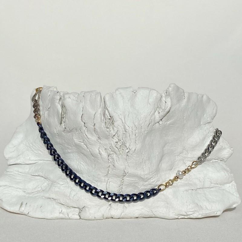 Cocoro Necklace | Dark blue