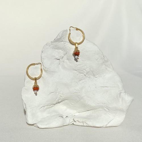 Hojarasca Earrings  Gold