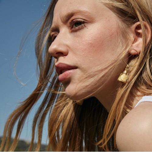 Pure Soul Earrings  Gold