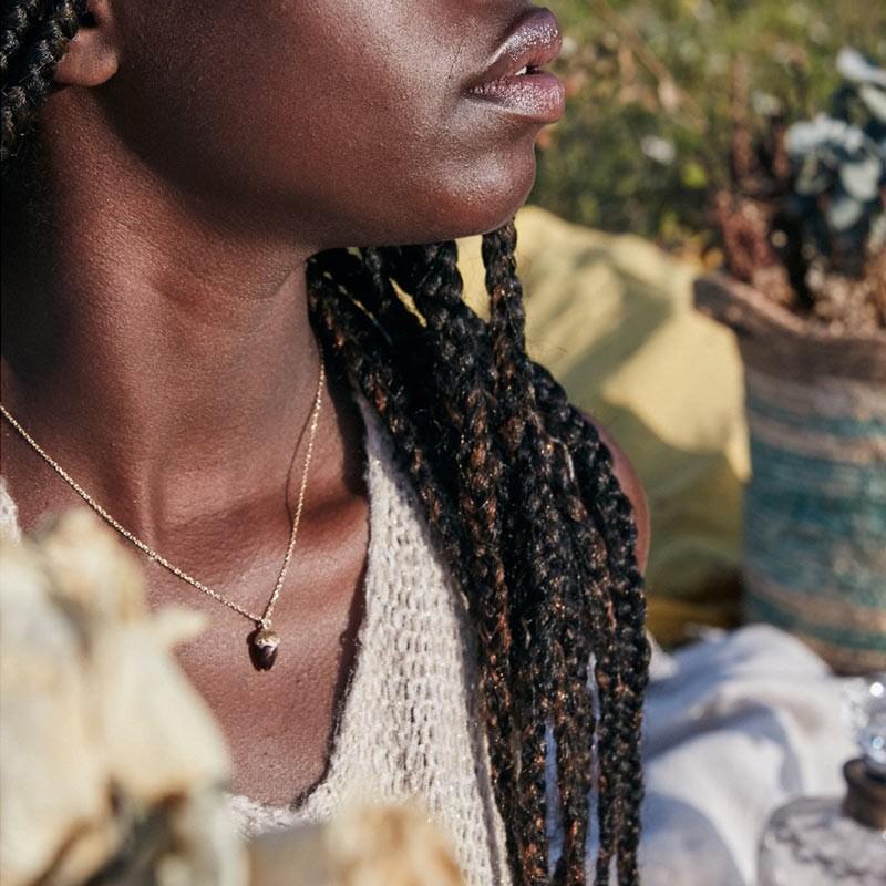 Barbotina necklace   Dark Brown